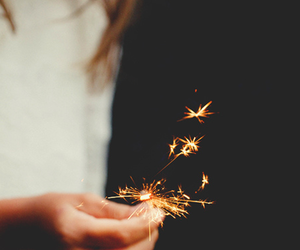 fire, sparkle, and light image