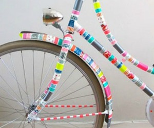 bike, bicycle, and washi tape image