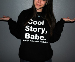 girl, babe, and story image