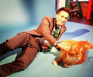 photoshoot, colton haynes, and with cat image