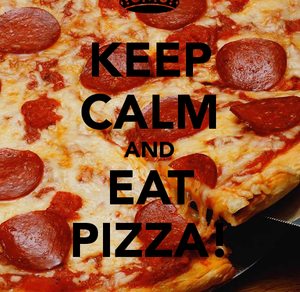 eat, keep calm, and pizza image