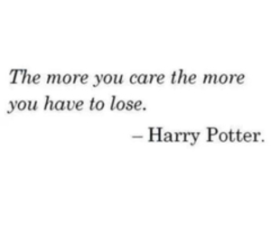 quote, harry potter, and care image