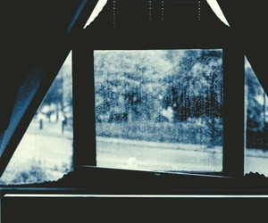 rain, window, and bed image