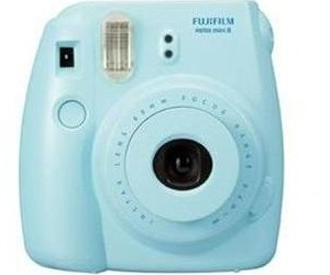 blue, camera, and instant image