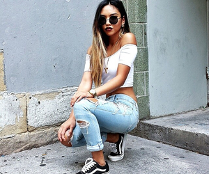 style, hair, and jeans image