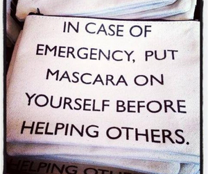 mascara, quote, and help image