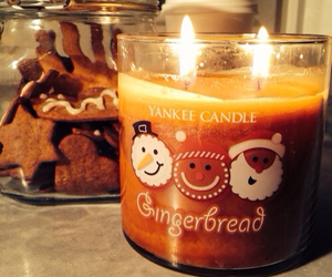 candle, yankee, and christmas image