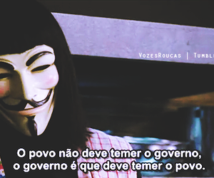 v for vendetta, text, and government image