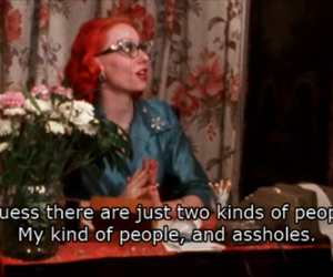 asshole, pink flamingos, and quote image