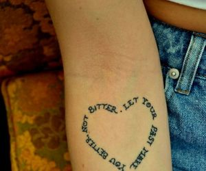 tattoo, heart, and quotes image