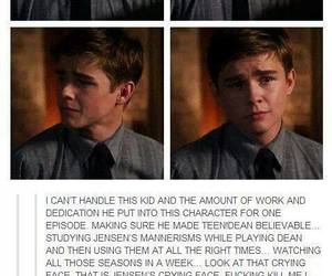 acting, dylan everett, and dean winchester image