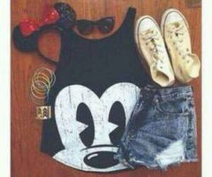 converse, disney, and girly image