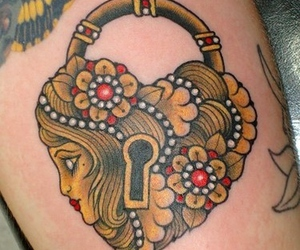 tattoo and lock image