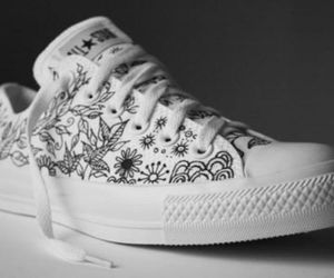 converse, doodle, and white image