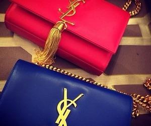 blue, bag, and YSL image