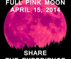 pink, moon, and share image