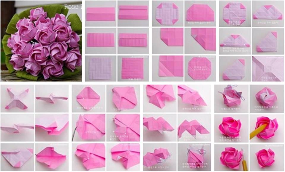 Diy beautiful origami paper roses usefuldiy mightylinksfo