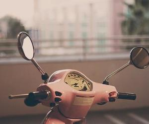 beautiful, motorcycle, and rose image