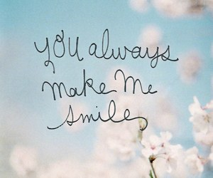 smile, love, and flowers image