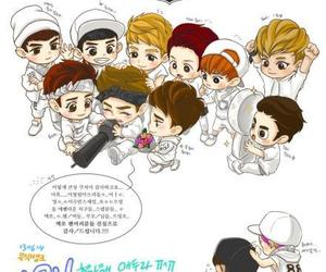 exo, exo-k, and cute image