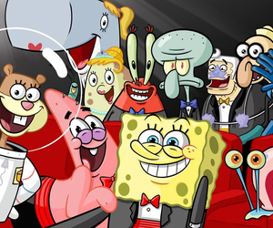 selfie, spongebob, and patrick image