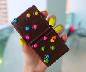 chocolate, food, and nails image