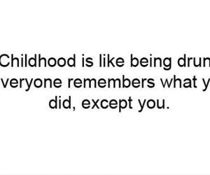 childhood, drunk, and child image