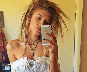 girl, hippie, and dreads image