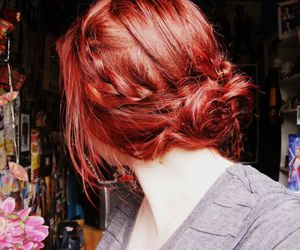 bright, bun, and red hair image