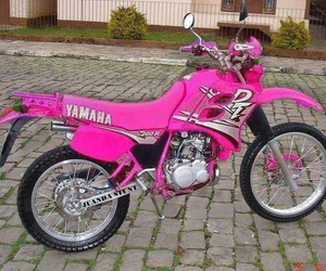 girl, motorcycle, and pink image
