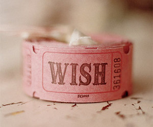 wish, pink, and ticket image