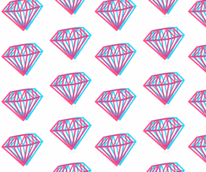 3d, diamonds, and iphone image