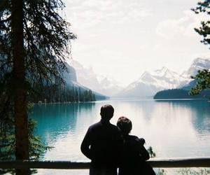couple, nature, and boy image
