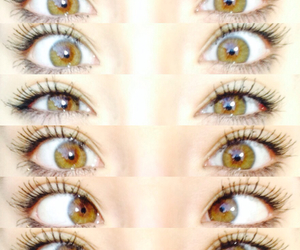 brown, eyes, and heartit image