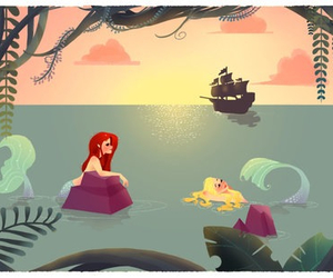 mermaid and disney image