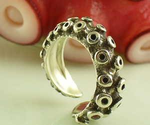 octopus, ring, and tentacle image