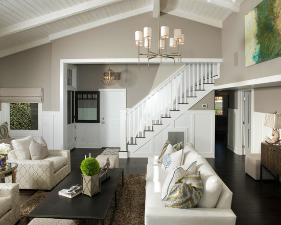 Architectural High Ceiling With Exposed Beams For Impressive