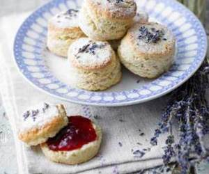 food, lavender, and jam image