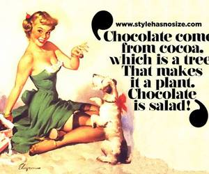 chocolate, quote, and salad image