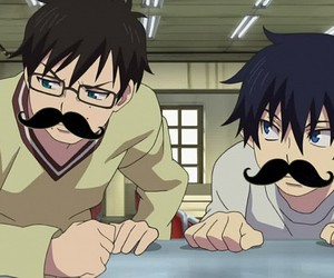 anime, ao no exorcist, and moustache image