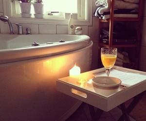 bath, bathroom, and candle image