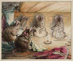 mouse, beatrix potter, and illustration image