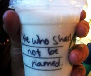 harry potter, funny, and starbucks image