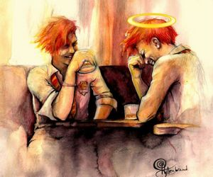 fan art, weasley twins, and fred and george image