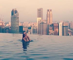 girl, holiday, and pool image