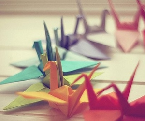 origami, bird, and colorful image