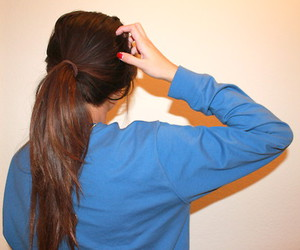 back, hair, and hear image