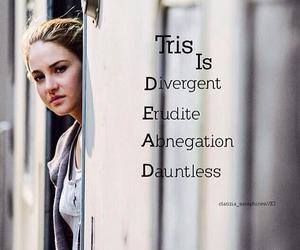 divergent, tris, and erudite image
