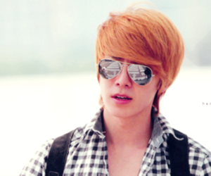 blonde, donghae, and handsome image