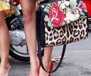 bag, floral, and street style image